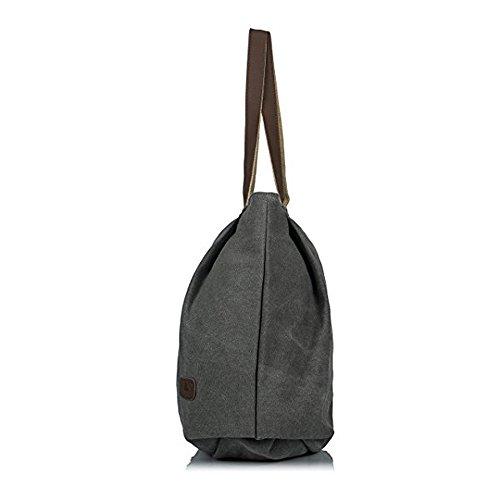 Tote Vintage Per Borsetta Shopper Bag Mano Casual Donne Tela Shopping A Grande Signore Borsa Tracolla Borse Cotone tw8t7