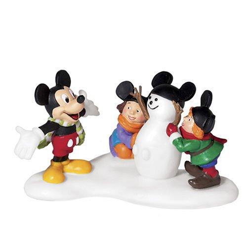 North Pole Snowman - Department 56 North Pole Village Mickey Builds A Snowman Accessory Figurine