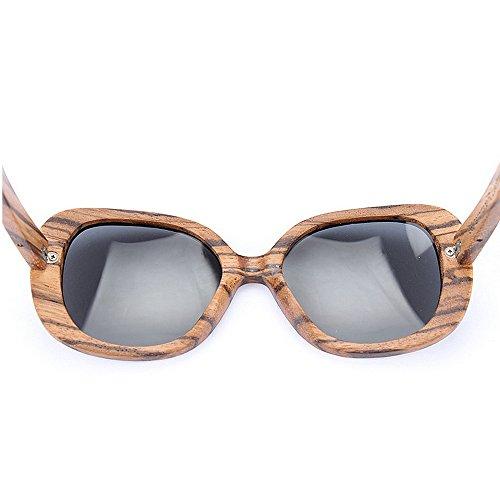 de sol de Retro de Gafas de a de protección impresión hombres sol sol gafas de para bambú hechas de UV mujeres marco d de Gafas leopardo Gafas sol de conducción las polarizadas mano unisex Gafas de de xI4IrwFq