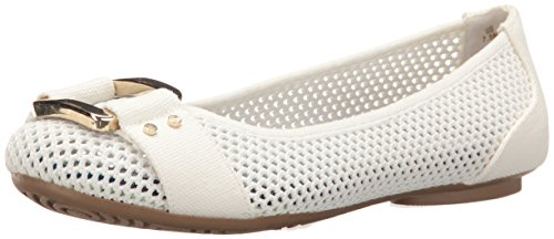 Dr. Scholl's Shoes Women's Frankie Flat, White Mesh, 8 M US