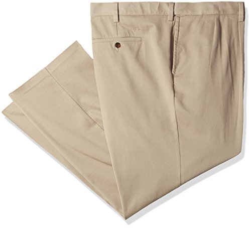 Dockers Men's Big and Tall Classic Fit Easy Khaki Pants - Pleated, Timber Wolf (Stretch), 44 30