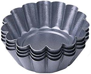 besica Juego de negro ovulo sacatestigos Pan budín moldes – Juego de moldes para pastelería Daisy taza