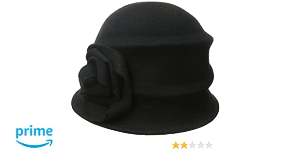 f912fc76 Betmar Women's Alexandrite Wool Trilby Hat with Flower Trim, Black, One  Size: Amazon.ca: Clothing & Accessories