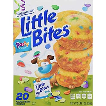 Entenmanns Little Bites Party Cake Muffins 33 Oz Pack Of 3 A1