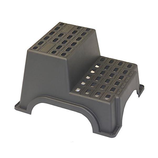 417CKNCYBVL Siehe Beschreibung MGI Trittstufe für Wohnwagen 2-stufig bis zu 200kg Maximalgewicht, 61x52x37cm: Trittleiter Einstieg…