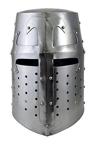 AnNafi Crusader Armor Helmet Templar Knight |Antique Helmet| Mens Combat Wearable Free-Size -