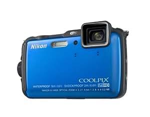"""Nikon Coolpix AW120 - Cámara compacta de 16 Mp (pantalla de 3"""", zoom óptico 5x, estabilizador óptico, GPS), azul"""