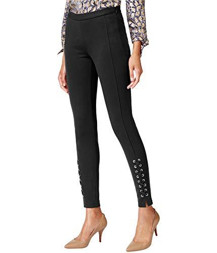 Michael Michael Kors Womens Lace-Up Skinny Skinny Pants Black 10
