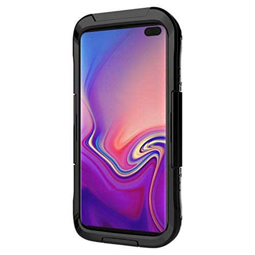 GXOK Waterproof Phone Case Cover with Screen Protector for Samsung Galaxy S10 Plus 6.4 inch (Black)