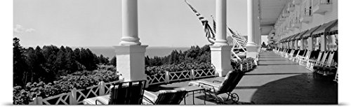 Mackinac Chair (Great BIG Canvas Poster Print entitled Deck chairs on a hotels porch, Grand Hotel, Mackinac Island,)