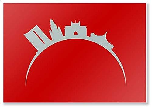 (City Skyline of Mumbai in India Fridge Magnet)
