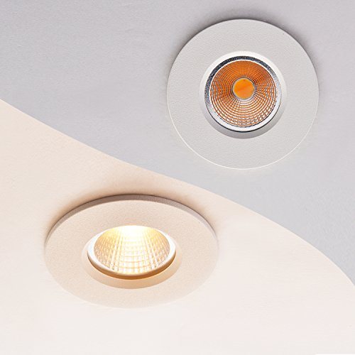 Obsess 3 Inch Ip65 Waterproof Recessed Trim With 8w Led Cob Downlight Damp Location Use