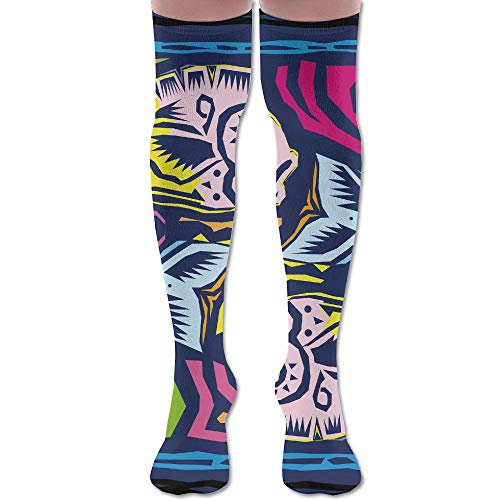 (Pisces Logo High Knee Socks For Boots Long Dress Compression Polyester Sox Leg Tube Ideal)
