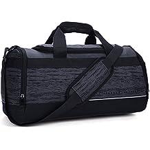 MIER 20 Inch Gym Bag with Shoe Compartment Men Duffel Bag, Medium, Black