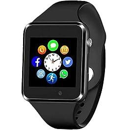 Smart Watch – Aeifond Bluetooth Smartwatch Touch Screen Smart Wrist Watch Fitness Tracker with Camera Pedometer SIM TF…