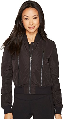 ALO Women's Off-Duty Bomber Jacket Black/Black - Clothing Off Duty
