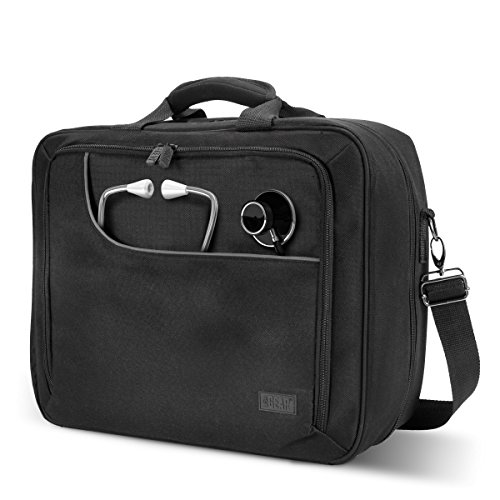 Price comparison product image Medical Equipment Bag for Doctors , Pharmaceutical Reps , Nurses and More by USA Gear - Padded Shoulder Strap & Adjustable Storage Compartments for Prescription Medication