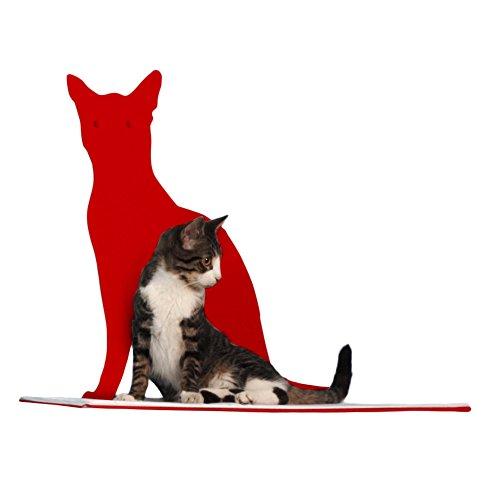 Cat Silhouette Cat Shelf Perch - Red by The Refined Feline