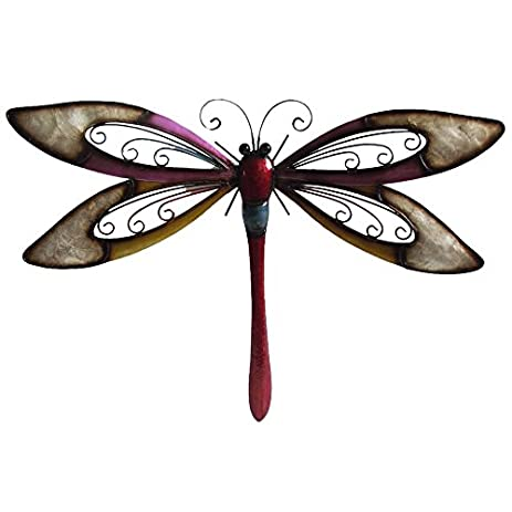 Very Cool Stuff Silver Wing Dragonfly Wall Art, 24u0026quot;