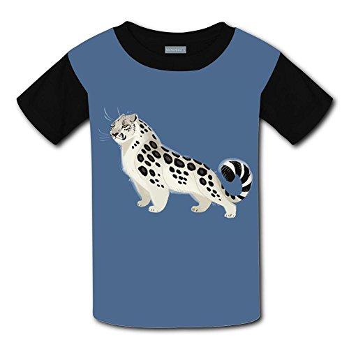 Yangjio T-Shirts Snow Leopard Costume M Short Sleeve For Children ()