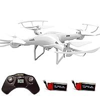 Cheerwing CW4 RC Drone con cámara de 720P HD 2.4GHz RC Quadcopter con modo de retención de altitud y una tecla para despegar Landing Plus Bonus Battery