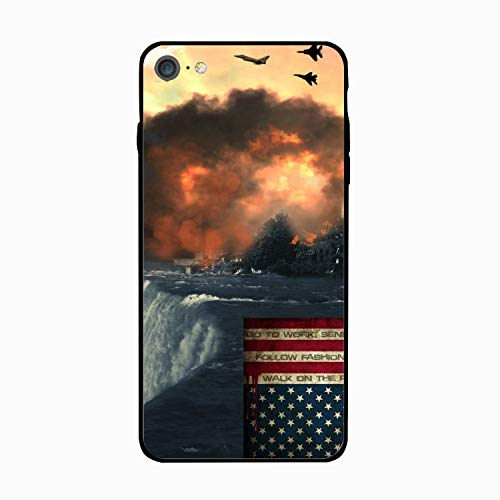Statue of Liberty American Flag Explosion Printed iPhone6 Cover Shockproof Hard PC Compatible for iPhone 6 Case 4.7