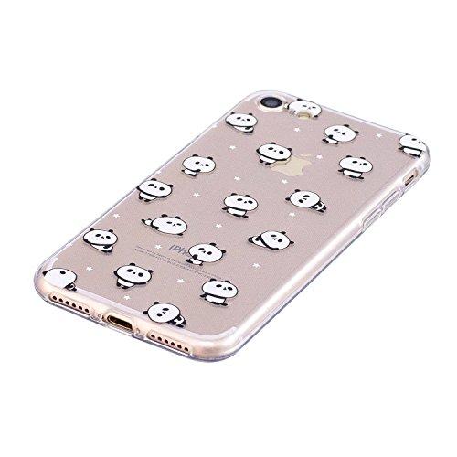 iPhone 7 Hülle Kleiner Panda Premium Handy Tasche Schutz Transparent Schale Für Apple iPhone 7 + Zwei Geschenk