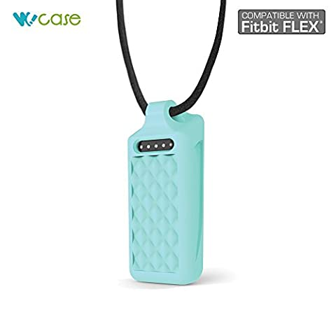 WoCase Pendant Necklace (Light Turquoise, Diamond) for Fitbit Flex Activity and Sleep Tracker Wristband Band Bracelet ( (Best Gift for Fitbit Flex - Sport Turquoise Pendant