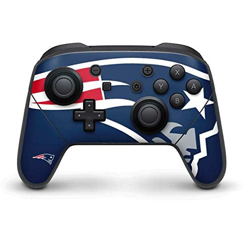 NFL New England Patriots Nintendo Switch Pro Controller Skin - New England Patriots Large Logo Vinyl Decal Skin For Your Switch Pro Controller by Skinit