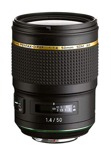 Pentax HD Pentax D FA 50mm 1.4 SDM AW Full Frame, All Weather Camera Lens, Black (Renewed) (Pentax Digital Spot Meter)
