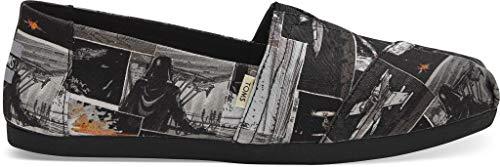 Star Wars Shoes Womens (TOMS Black Star Wars Print Women's Canvas Slip-on Black 10014414)