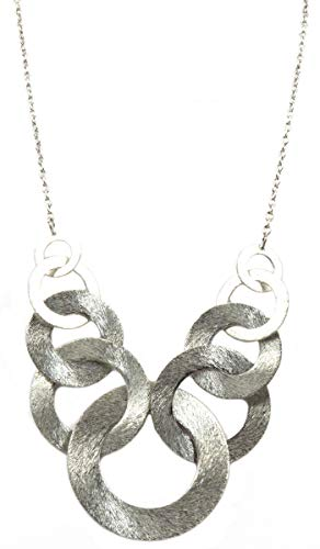 p Brass Necklace India Silver Tone ()