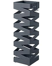 SONGMICS Paraplyställ paraplyställ med vattenuppsamlare och krokar ges bort Ø 15,5 x 49 cm