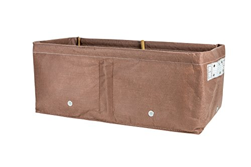 BloemBagz Raised Bed Planter Grow Bag, 12 Gallons, Chocolate (12 Gallon Square)