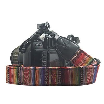 Mavota Colorful Stripe Camera Shoulder Neck Strap Camera Belt For Canon Nikon Olympus Panasonic Pentax Sony SLR/DSLR Digital Cameras