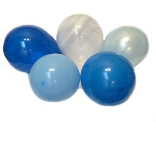 Royal Navy Dark Light Baby Blue Assorted Mixed BLUE Mulit-Pack 13'' Inch Rubber Latex Party Balloons for Wedding Bridal Baby Shower Special Event (50 pcs) by Secret for Longevity