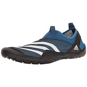 adidas Outdoor Men's Climacool Jawpaw Slip-on Water Shoe, Core Blue/White/Black, 11 M US