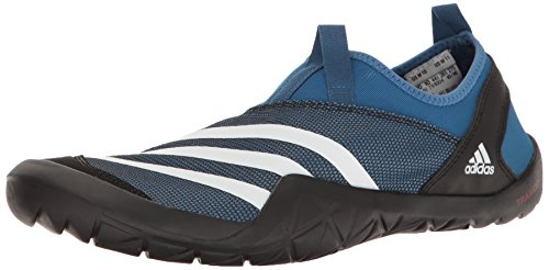 adidas Outdoor Men's Climacool Jawpaw Slip-on Water Shoe, Core Blue/White/Black, 12 M US (Adidas Water Slides)