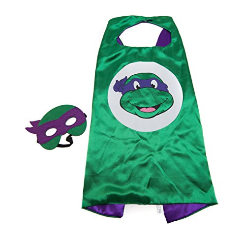Ninja Turtles Donatello Cape and Mask Set, Green & Purple (Masked Ball Outfit)