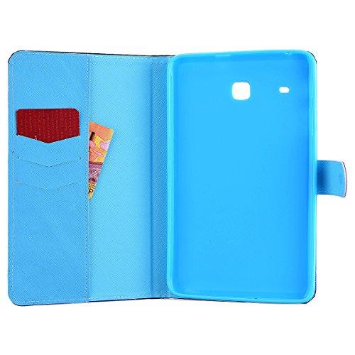 We Love Case Funda para Samsung Galaxy Tab A (9.7 Pulgadas) T550 Tableta Case PU Sintético Cuero Billetera Estilo Cierre Magnético y Función de Soporte Cubierta interna Silicona TPU Suave Carcasa Tabl Torre Eiffel