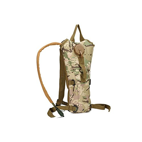Hydration Packs 3L Water Bladder Camping Hiking Hydration System Backpack Camelback, Outdoor Tactical Pack Running Cycling Hydration Bag (Jungle Camouflage)