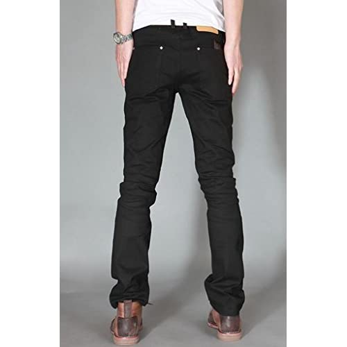 Winwinus Men Straight Wide Leg Casual Trousers Fitted Ankle Jeans