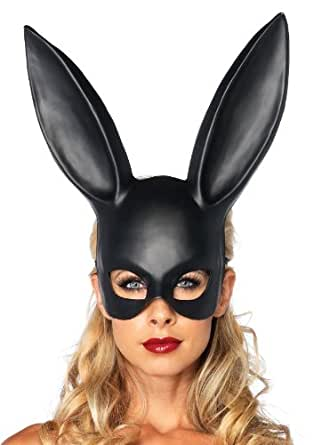 Leg Avenue Bondage Bunny Mask, One Size, Black