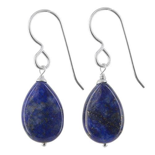 Lapis Lazuli Natural Gemstone Sterling Silver Handmade Earrings