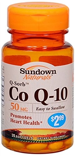 Sundown Naturals Sundown Naturals Q-Sorb Coq-10, 25 Таблетки 50 мг (в упаковке 3)
