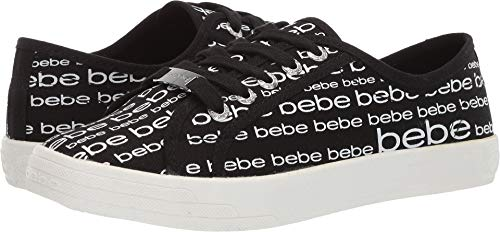 bebe Women's Daylin Sneaker, Black, 7 Medium US from bebe