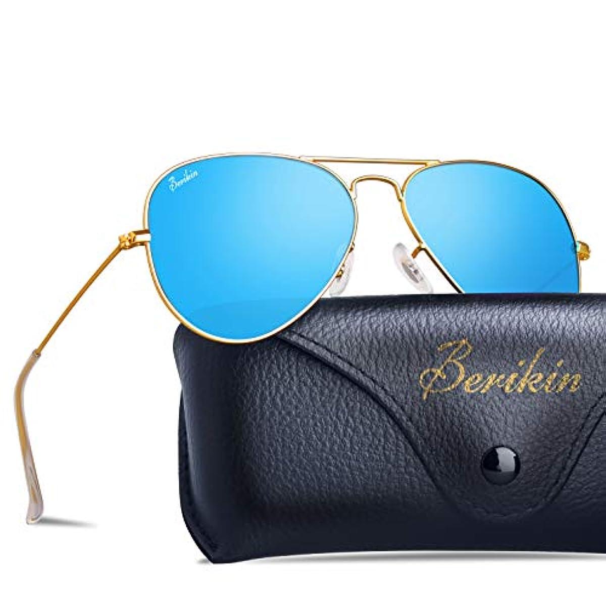 [해외] BERIKIN 썬글라스 고품질 유리 아비에퍼터 T 아드로푸 맨즈 레이디스 UV400 UV컷 SUNGLASS FOR MEN WOMEN 미러 컬러 렌즈