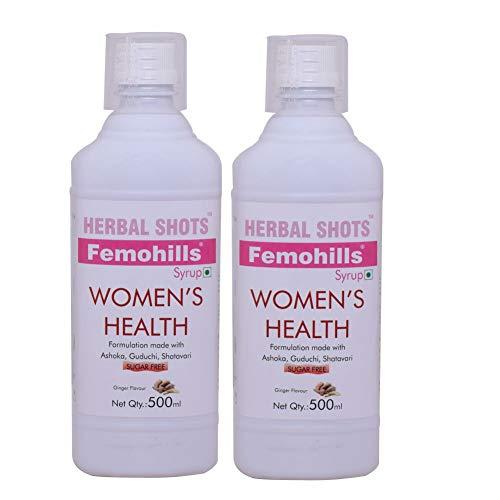 Herbal Hills Herbal Shots Femohills Womens Health – 500 Millilitre, Pack of 2