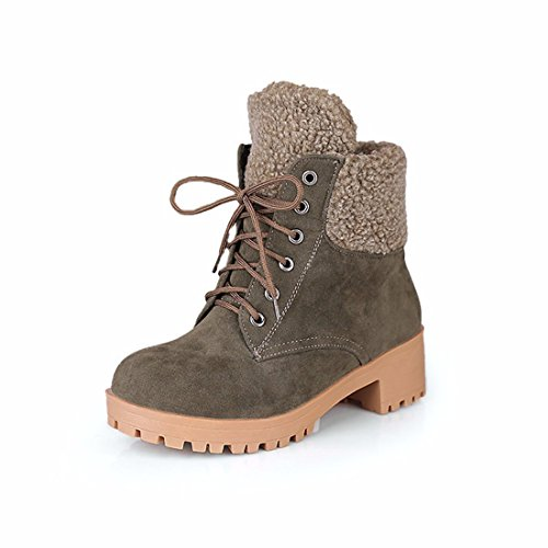 party Dichotomanthes boots with end Winter female green style boots British size large snow short x7xqfzYX