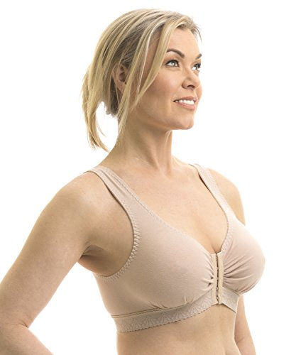 Beige Stretch Bras (Carole Martin Full-freedom Cotton Bra -36 Beige)